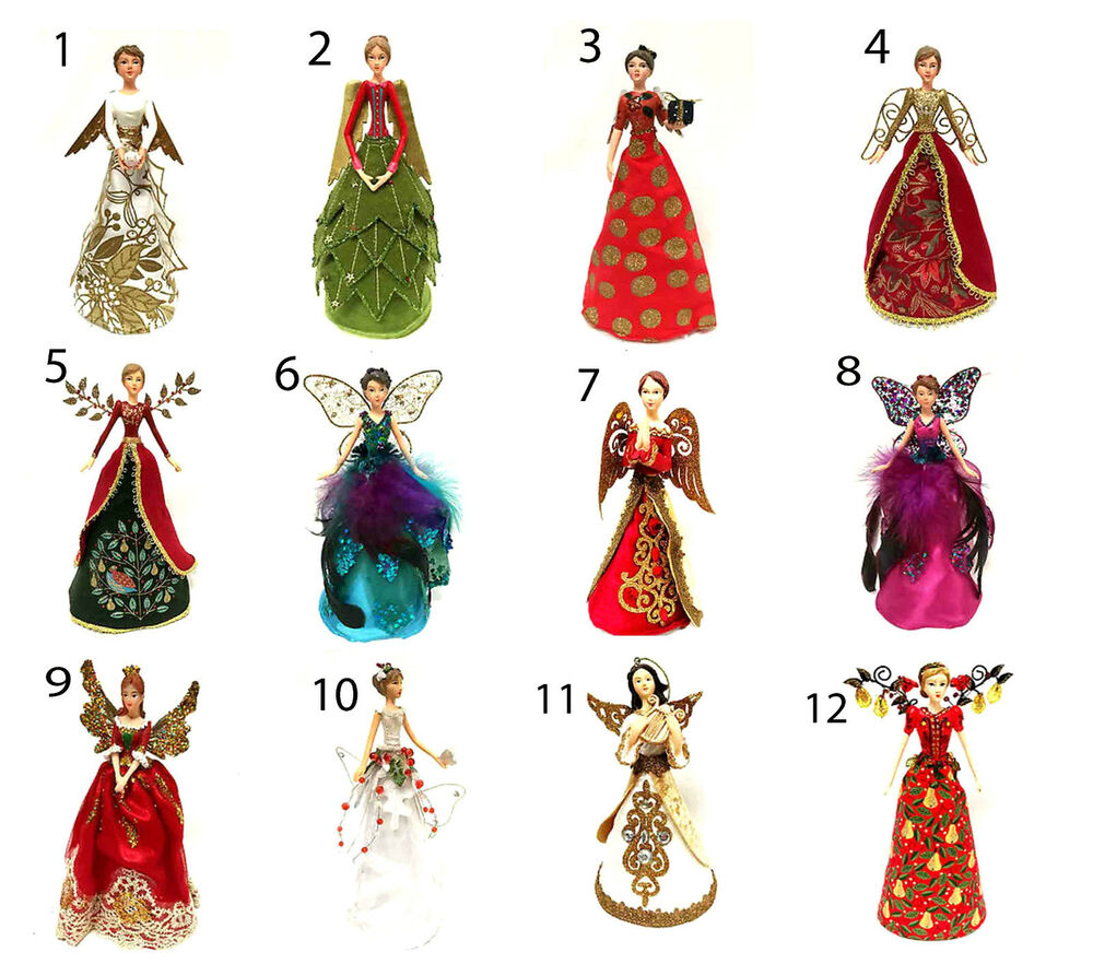 Gisela Graham Christmas Tree Topper: Gisela Graham Angel Fairy Christmas Tree Topper Decoration