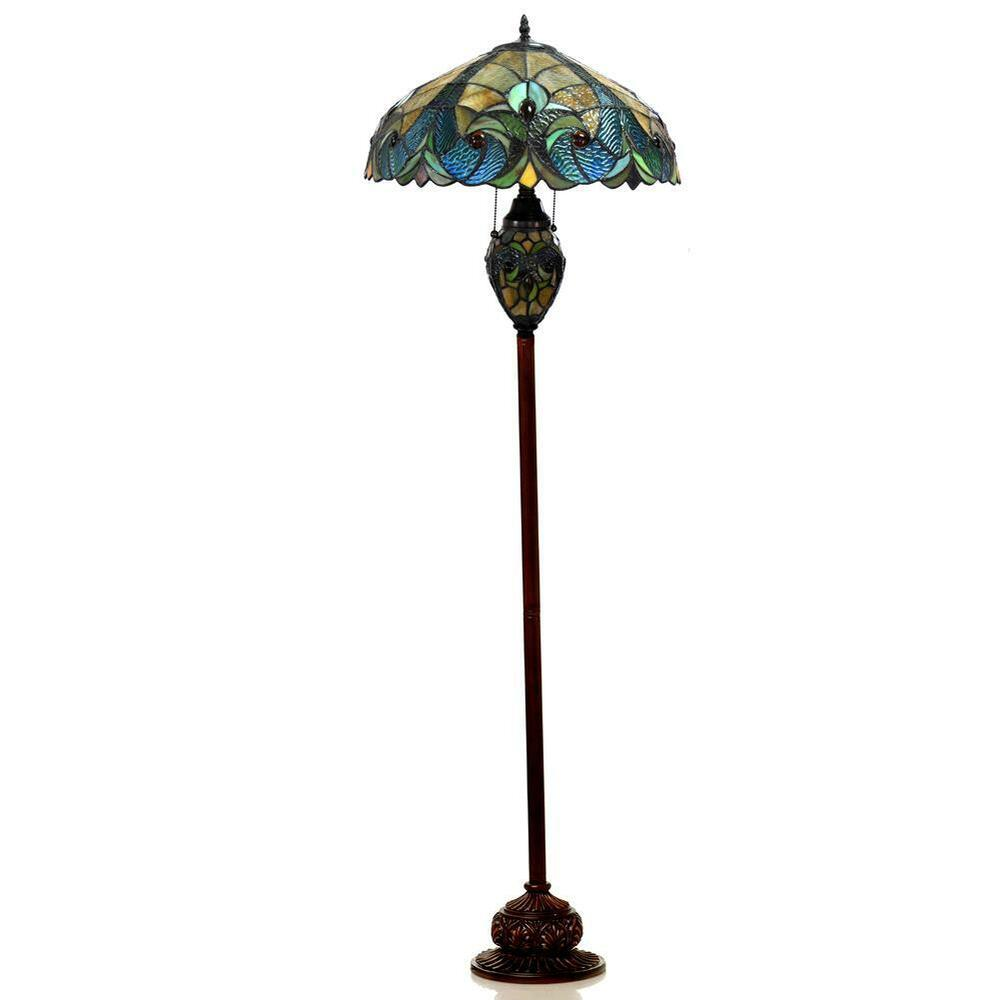 """Hand Crafted 65"""" Tiffany Style Floor Lamp Stained Glass"""