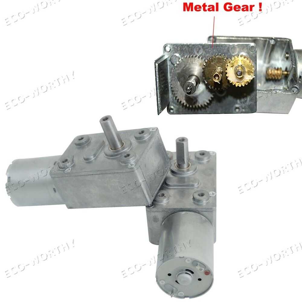 24v 4rpm Gear Motor High Torque Turbo Worm Geared Jgy370 Metal Gear Dc Motor Ebay