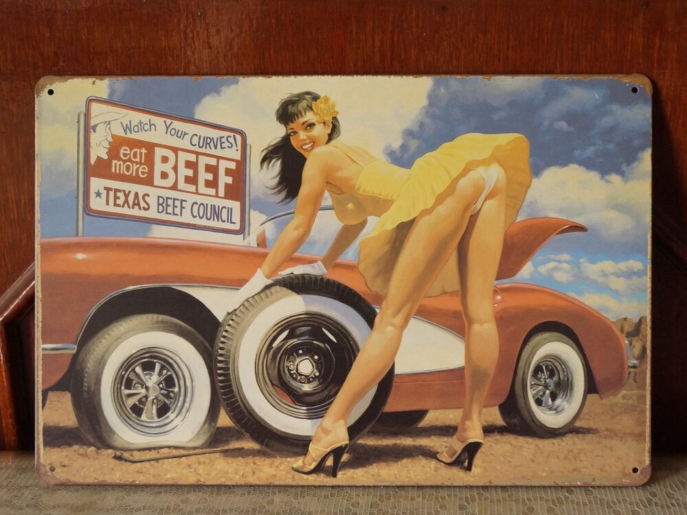 Man Cave Car Art : Car garage art poster vintage metal tin sign man cave home