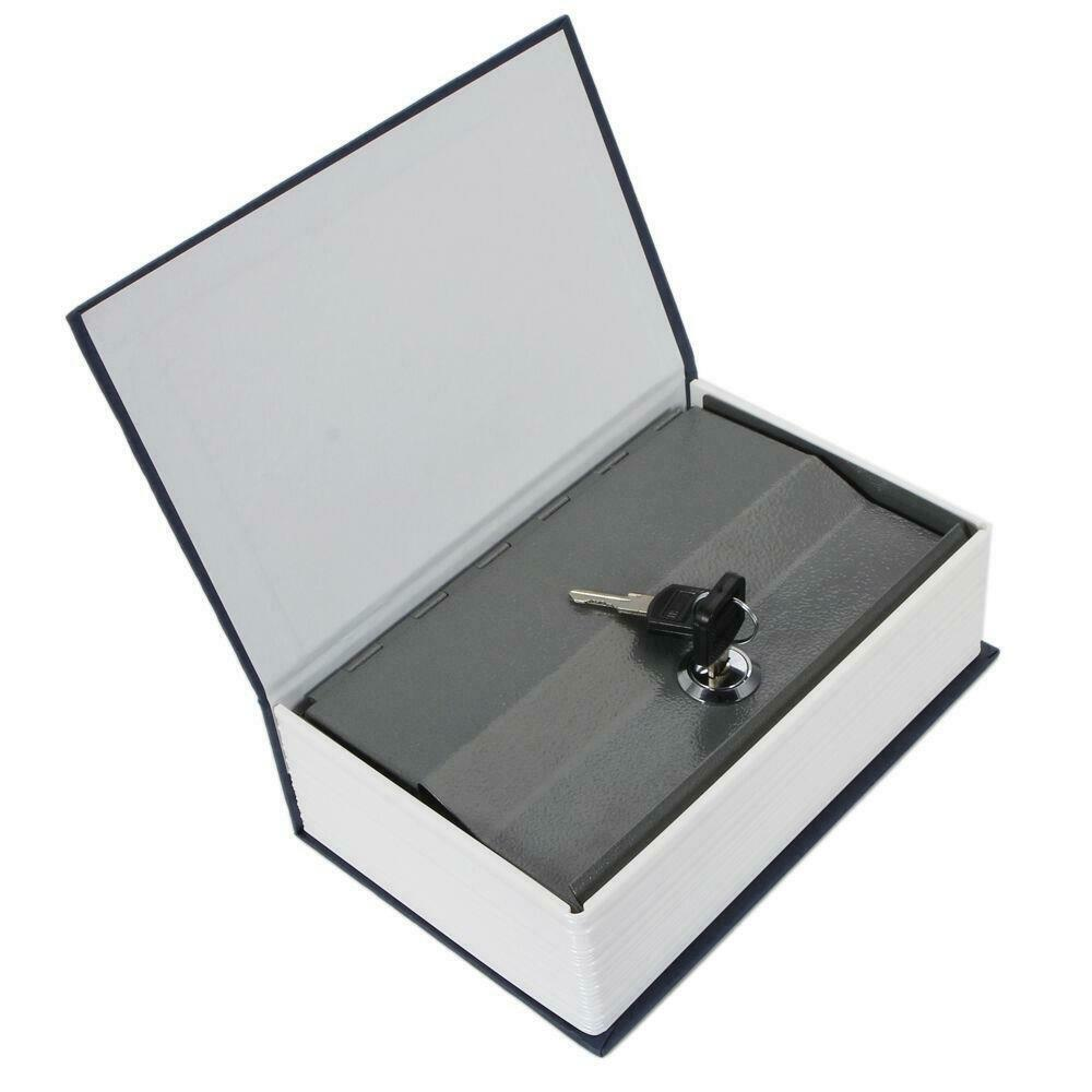 Book Safe Key Lock Metal Dictionary Hide Jewelry Safety