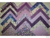 Purple Shades Cotton Quilt Fabric Squares 5 inch Charm Blocks