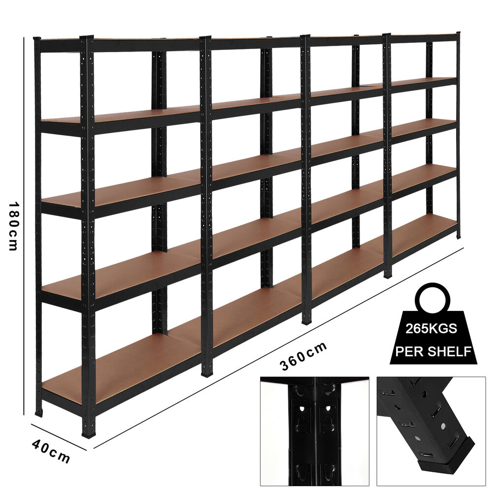 Heavy Duty Garage Storage Racks : Racking bays tier garage shelving unit storage racks