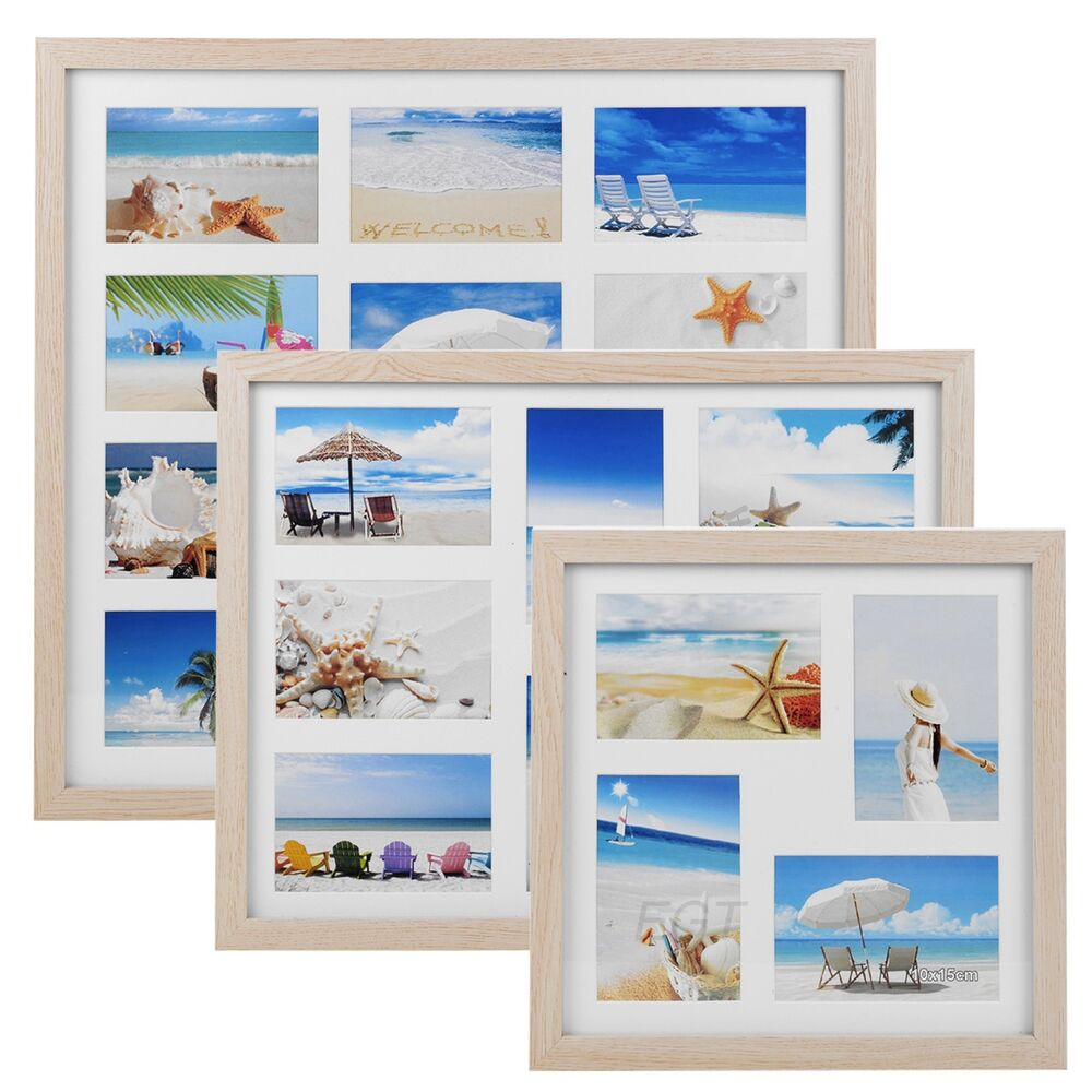 4 8 11 Photos Wooden Picture Photo Frame Collage Wall