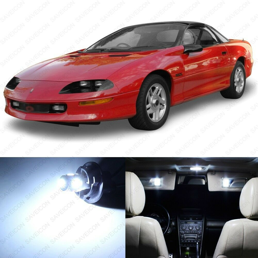 9 X Xenon White Led Interior Light Package For 1993 2002 Chevy Camaro Ebay