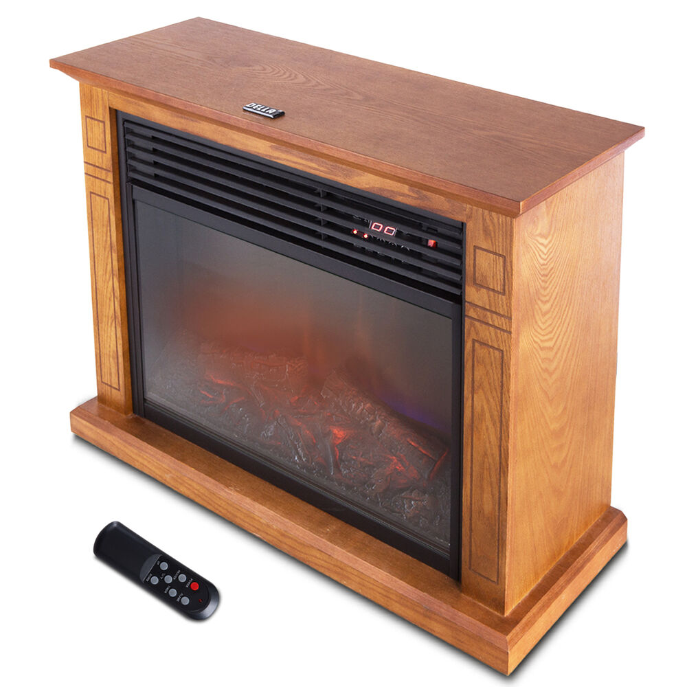 1500w Large Infrared Quartz Electric Fireplace Heater