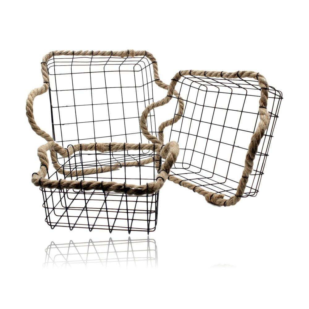 Add convenient storage to your home with the Seville Classics Wire Nesting Storage Baskets. This set of nesting baskets with tapered bottoms are made of solid, steel wire and feature generous interior space and half-circle handles for easy carrying.