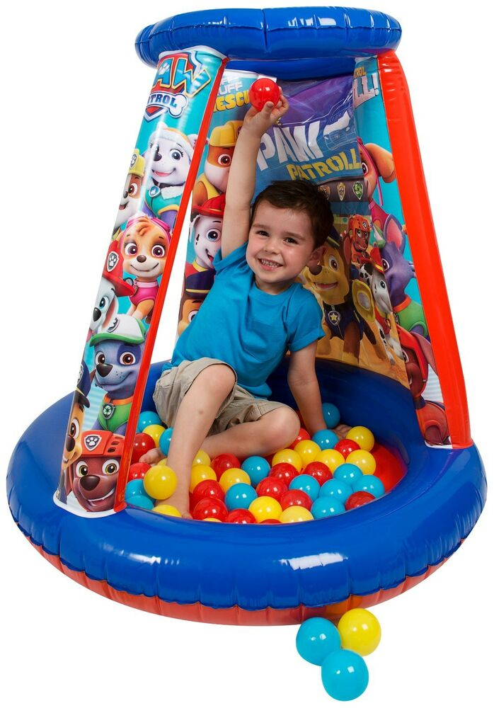 paw patrol inflatable ball pit playhouse 20 balls boys indoor kids toy gift ebay. Black Bedroom Furniture Sets. Home Design Ideas