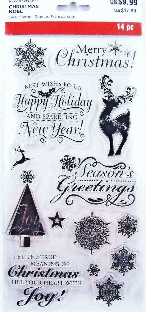 Christmas Rubber Stamps For Cards