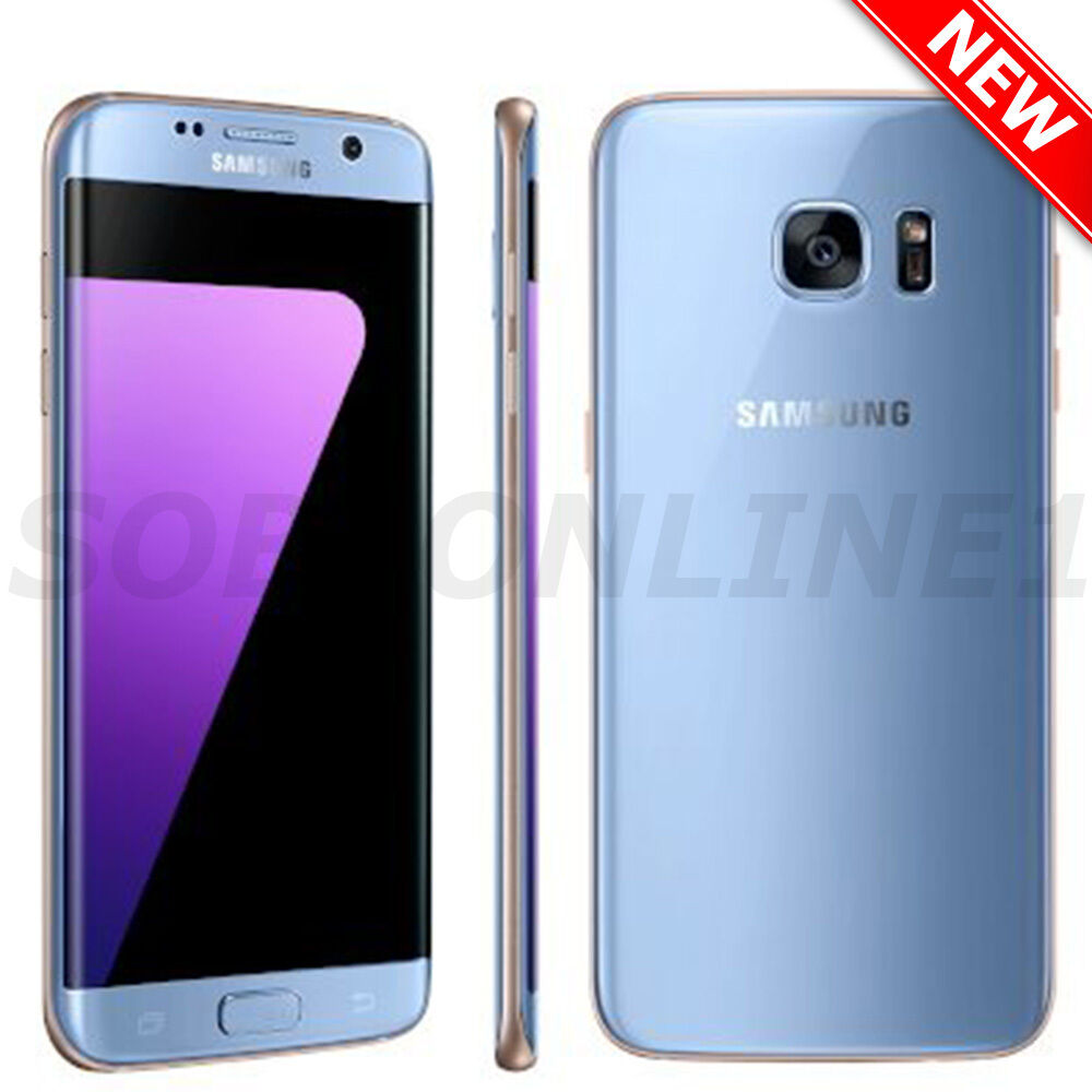 samsung galaxy s7 edge sm g935f factory unlocked 5 5 coral blue ebay. Black Bedroom Furniture Sets. Home Design Ideas