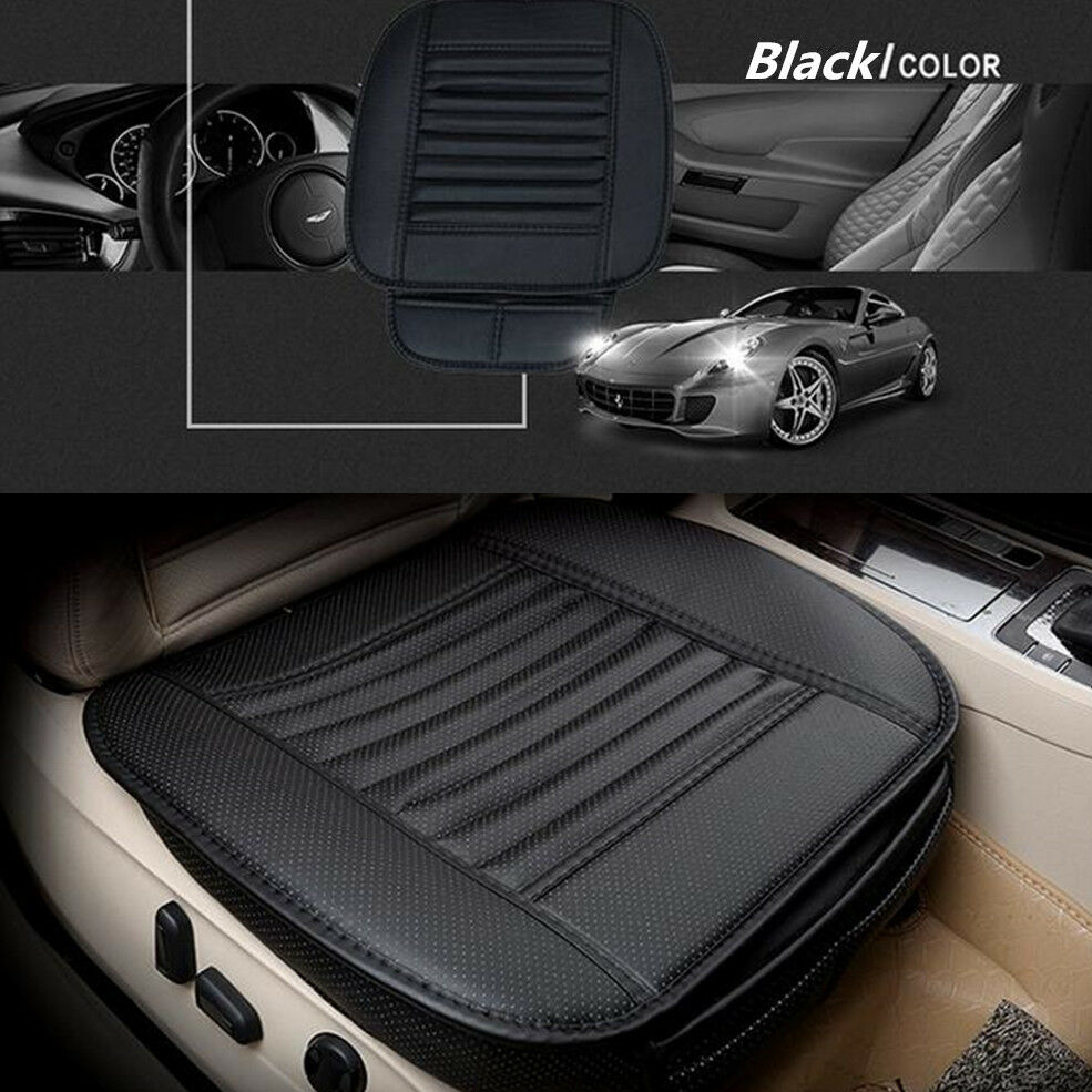 black pu bamboo charcoal leather car seat surround cover breathable cushion pad ebay. Black Bedroom Furniture Sets. Home Design Ideas