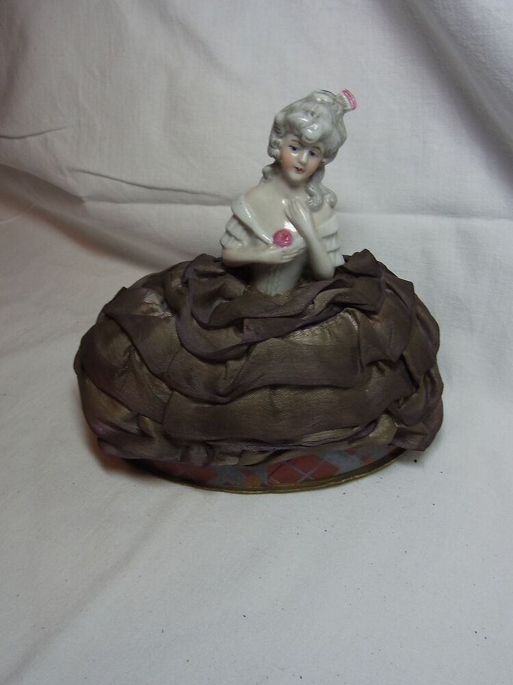 Antique German Porcelain Half Doll Candy Container #CB | eBay