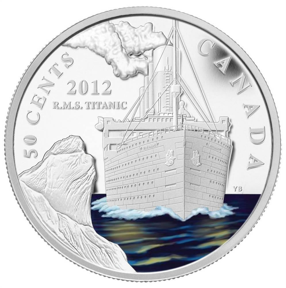 2012 Canada 50 Cent Silver Plated Coin Rms Titanic Ebay