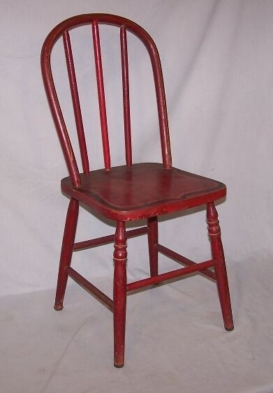 Stenciled Bentwood Child S Chair Red Made In Appleton