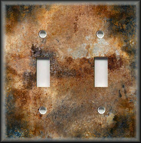 Light Switch Plate Cover Design Of Aged Copper Black