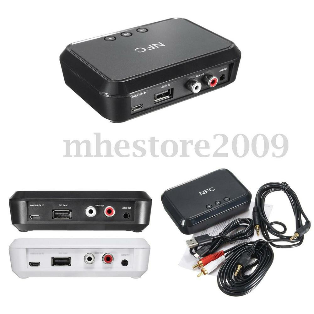 3.5mm NFC USB Bluetooth Stereo RCA Audio Music Speaker Wireless Receiver Adapter