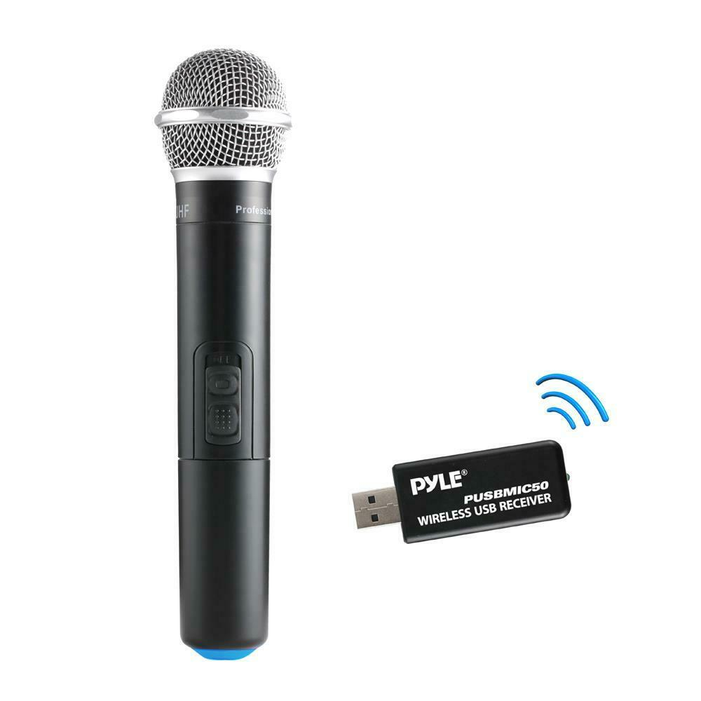 new pyle pusbmic50 handheld wireless microphone dynamic uhf system ebay. Black Bedroom Furniture Sets. Home Design Ideas