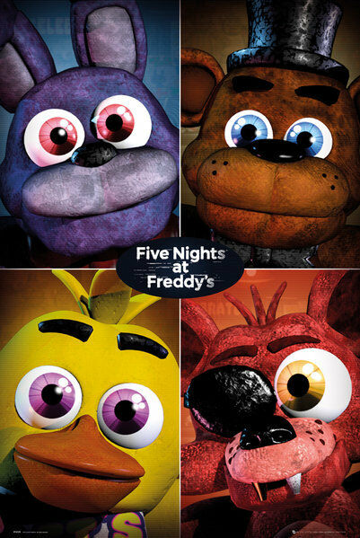 Five nights at freddy s poster quad new gaming poster fp4228