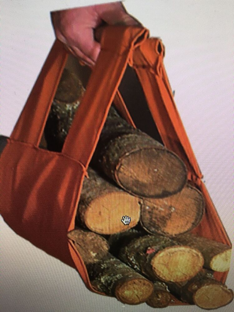 Log Tote Fireplace Holder Wood Firewood Canvas Carrier
