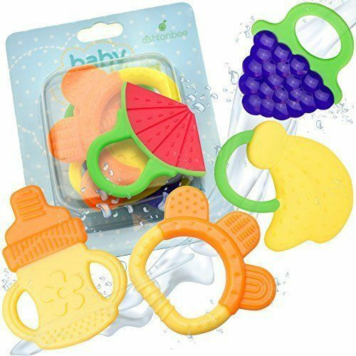 Baby Teething Teethers Toy Bpa Free Natural Infant Chew