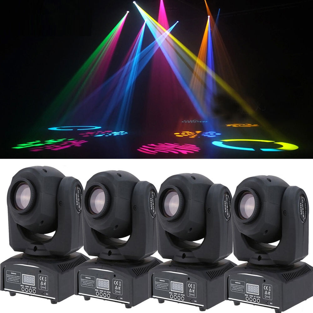 4 pack 60w rgbw stage light led moving head lights disco dj party stage lighting ebay. Black Bedroom Furniture Sets. Home Design Ideas