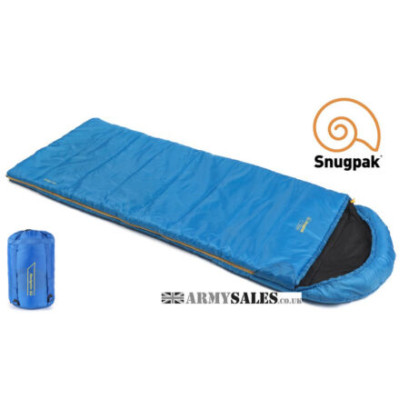 img-Snugpak THE NAVIGATOR (BASECAMP) BLUE 2/3 Season, Square Sleeping Bag with Hood
