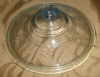 """VINTAGE Round FIRE KING Blue Sapphire PHILBE Casserole Dish LID ONLY! 7 1/2"""""""