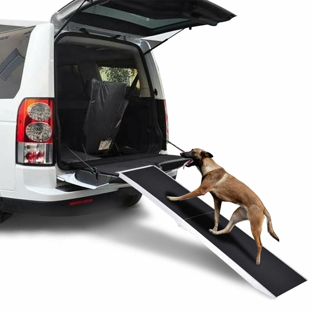 Dog Ramp For Car >> 6Ft Portable Aluminum Folding Pet Paw Safe Dog Ramp Ladder Incline Car Truck SUV | eBay