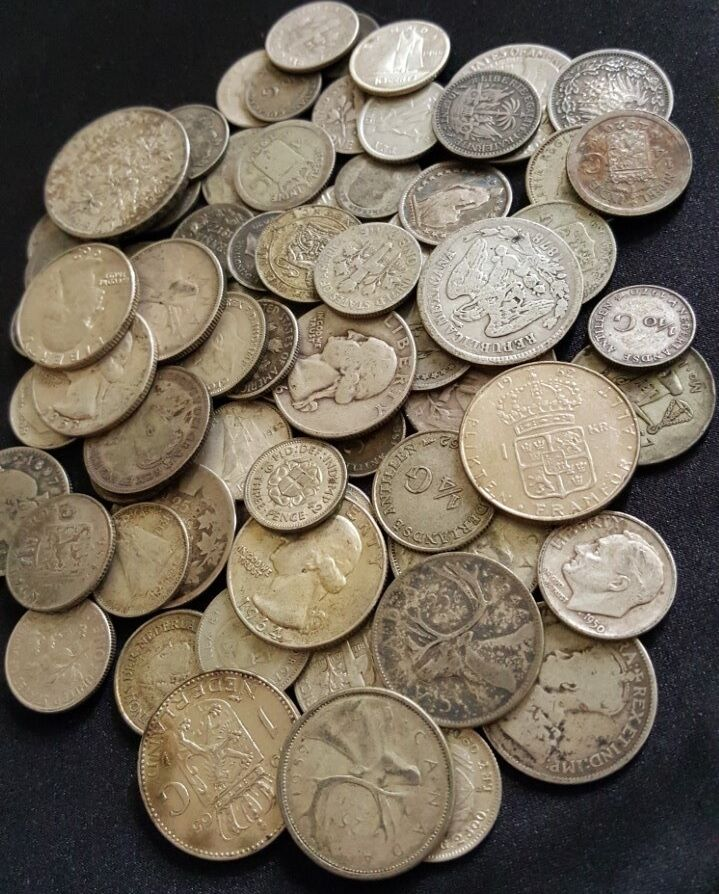 World Silver Coins From Huge Hoard Old Antique Coins Money