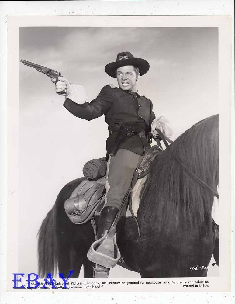 Audie Murphy On Horse Vintage Photo Column South Ebay
