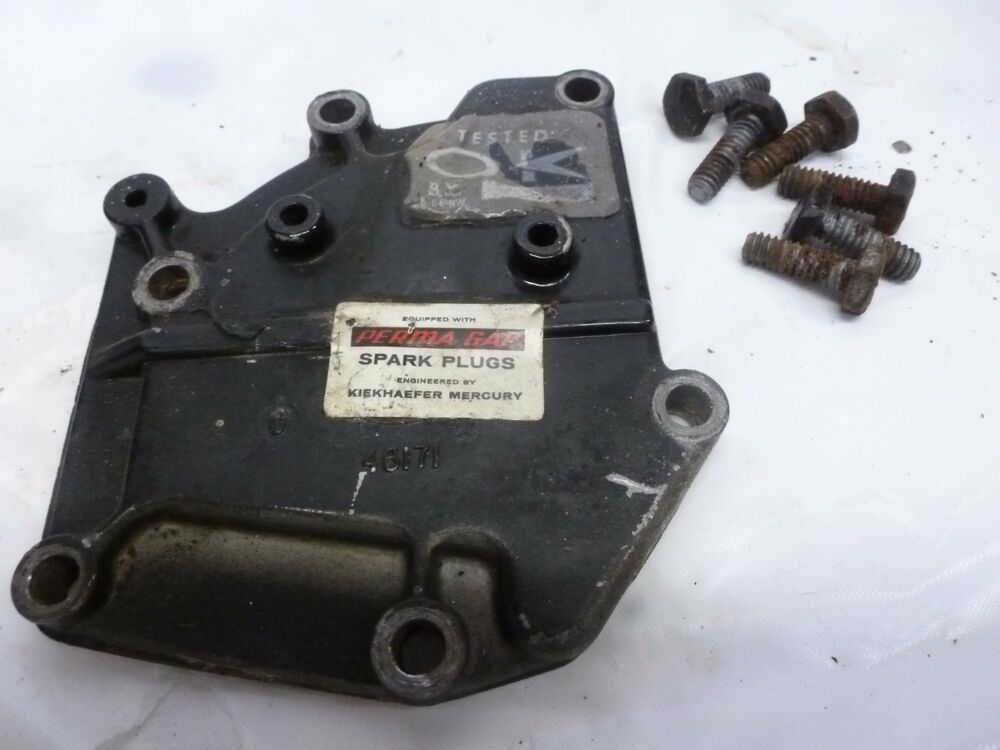 1974 mercury 4hp 40 exhaust manifold cover 46171 outboard for Ebay boat motors outboard