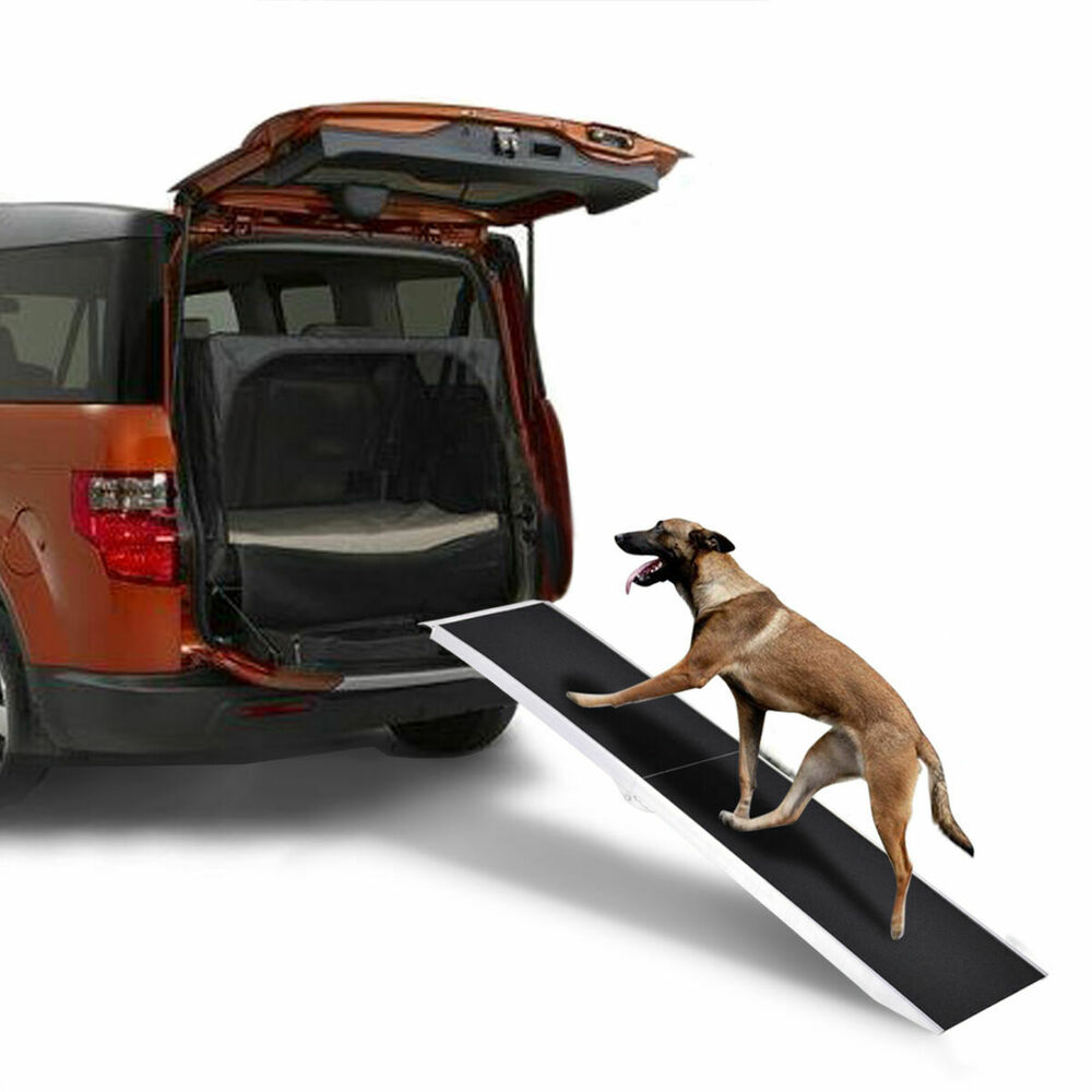 8ft Portable Aluminum Folding Pet Paw Safe Dog Ramp Ladder