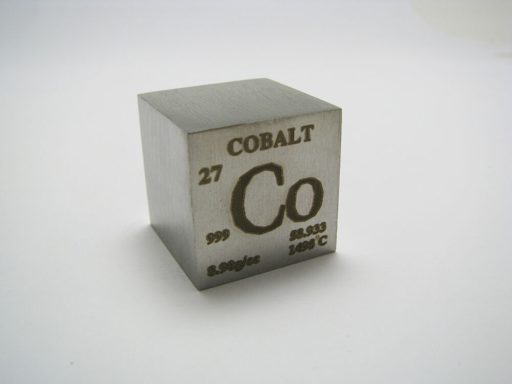 1 Inch 25 4 Mm Pure Cobalt Metal Element Cube 99 9 Pure