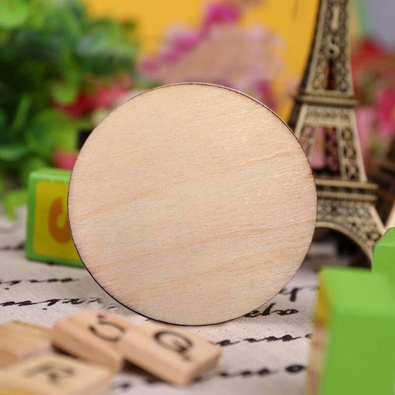 Pc rustic natural round wood pine slice disc