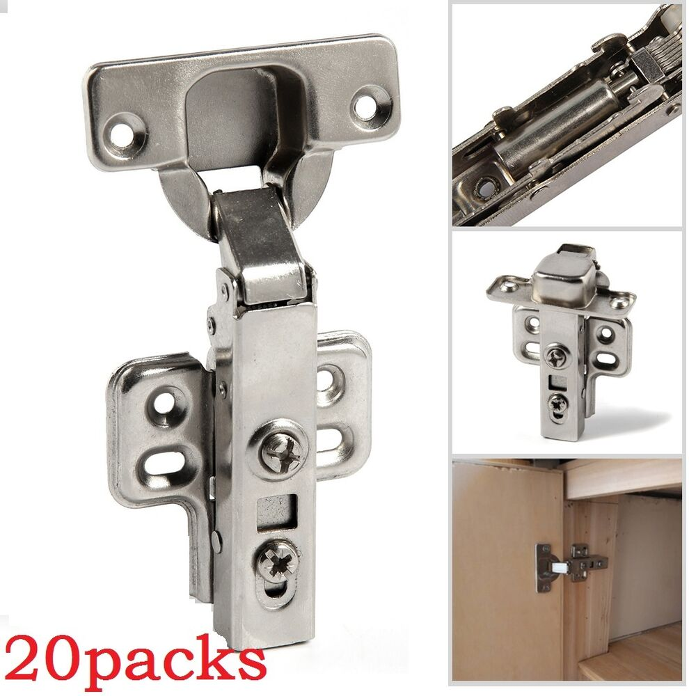 quick release cabinet hinges kitchen cabinet door hinges 20x 35mm Soft Close Kitchen Cabinet Door Hinges Slow Shut Clip On Plate S
