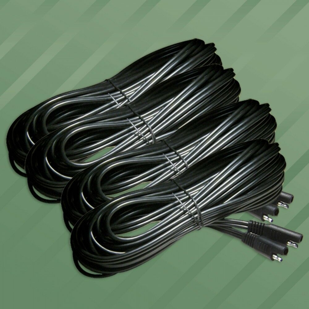 4 Quick Disconnect 25ft Extension Lead Terminal Cable For