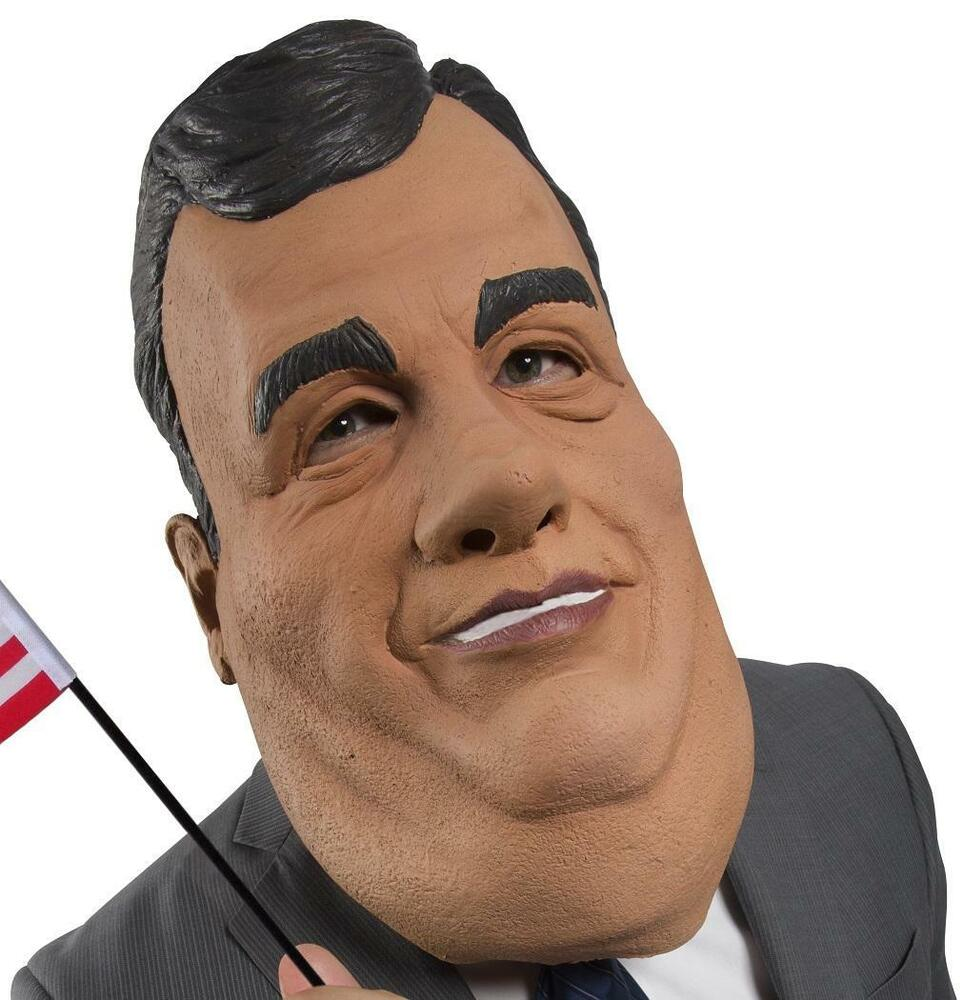 Chris Christie Mask Governor Fancy Dress Up Halloween Adult ...