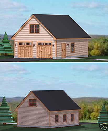 Garage Plans Blueprints 28 Ft X 28ft With Dormers: GARAGE PLANS BLUEPRINTS 28 FT X 28 FT, 2 CAR