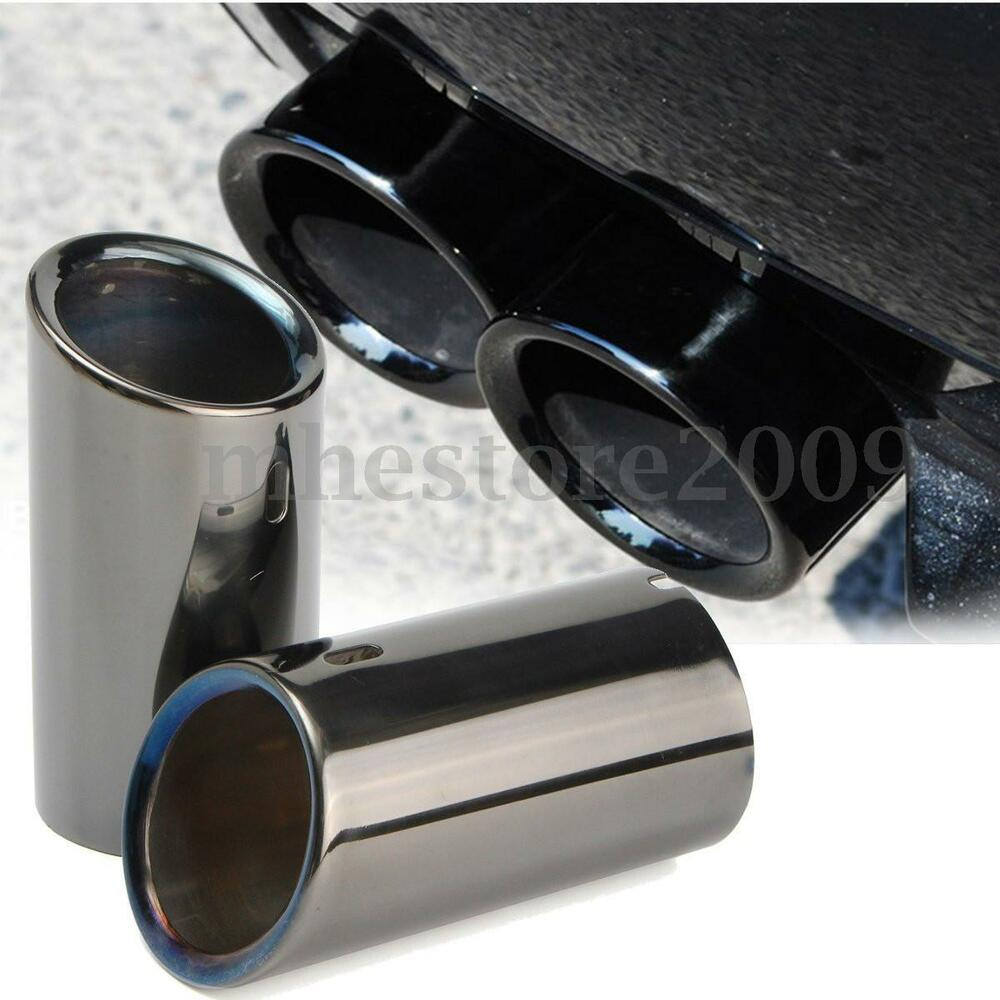 Tail Exhaust Tip Pipes Titanium Black For Bmw E90 E92 325i