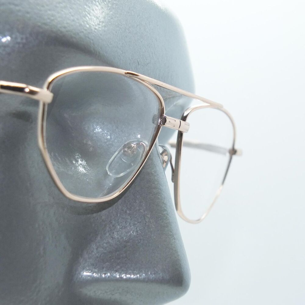 61d6befb1cf Details about Angled Aviator Wire Reading Glasses Spring Hinge Gold Metal  Frame +2.50 Lens
