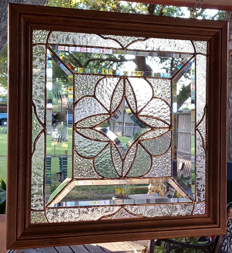 stained glass window panel sun catcher style