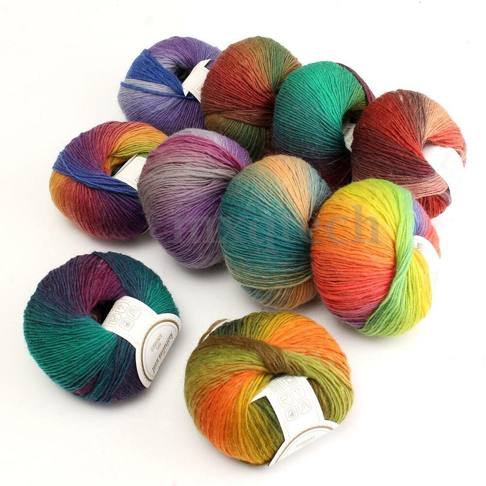 50g Yarn Ball Soft Cashmere Baby Smooth Bamboo Cotton