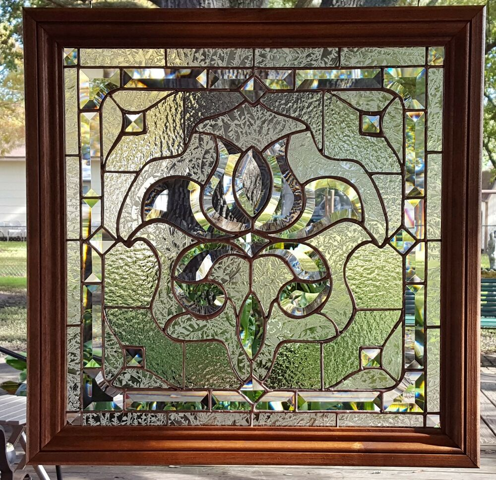stained glass window panel sun catcher clear