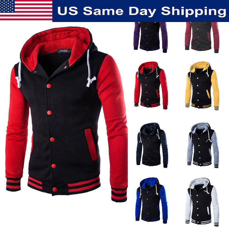 Unisex Varsity Style Fashion Letterman University College Baseball Jacket New Us Ebay