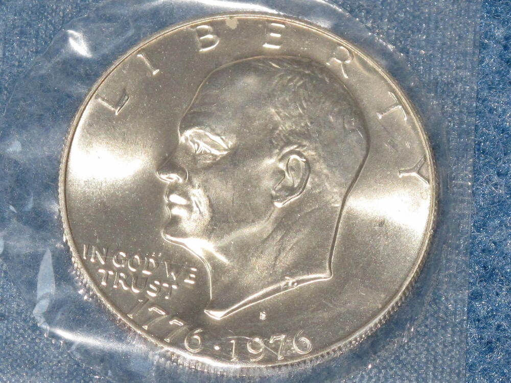 1776 1976 S Eisenhower 40 Silver Dollar Brilliant
