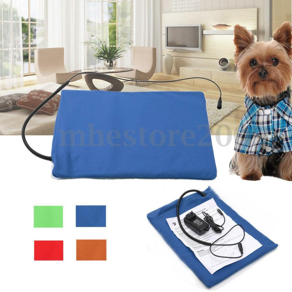 Pet Bed Warmer Dog Cat Electric Heating Pad Heated