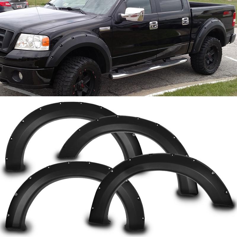 04 08 ford f150 pocket rivet style fender flares 4pcs. Black Bedroom Furniture Sets. Home Design Ideas
