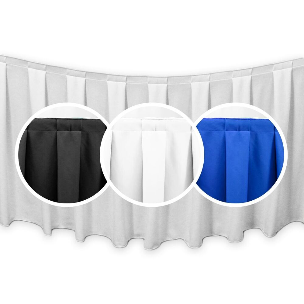 13 ft simplypoly box pleat table skirting ebay