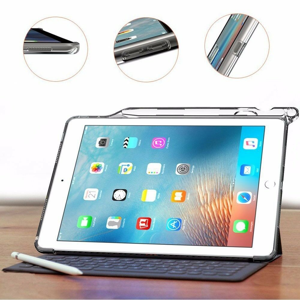 for ipad pro 9 7 with pencil holder and apple smart keyboard compatibility case ebay. Black Bedroom Furniture Sets. Home Design Ideas