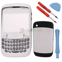 White Full Housing Case Cover for Blackberry Curve 8520 with Tools